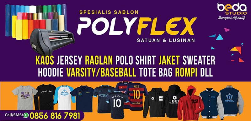 Sablon Kaos Satuan Jakarta Timur menggunakan jasa Sablon Polyflex
