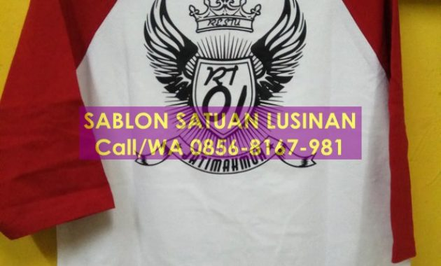 sablon satuan lusinan manual & digital